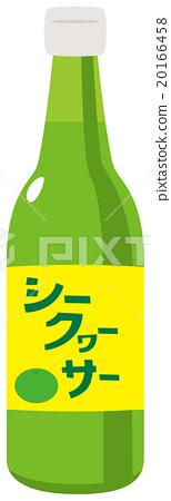 Shikwasa飲料瓶例證 20166458