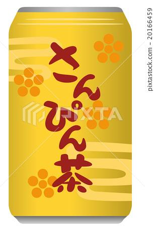 Mr. Pin tea can illustration 20166459