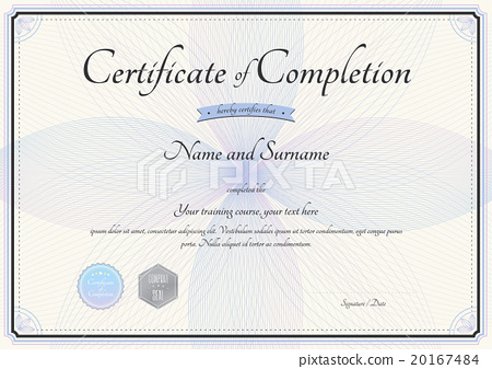 Certificate of completion template in vector stock illustration certificate of completion template in vector yelopaper Image collections