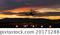 飞机 日落 夕阳 20173288