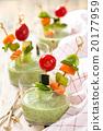 Green cream soup. 20177959