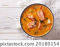 salmon soup with vegetables and thyme 20180154
