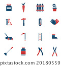 Garden tools simply icons 20180559