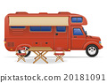 car van caravan camper mobile home vector 20181091