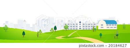 School wood scenery background 20184627