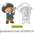 coloring, boy, vector 20194529