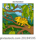 German alphabet, letter C (chameleon) 20194595