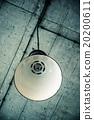 Ceiling metallic lamp, retro scene 20200611