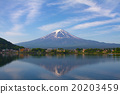 Mount Fuji from lake Fujikawaguchiko, Japan. 20203459