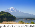 Mount Fuji from lake Fujikawaguchiko, Japan. 20203460