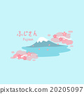 Mountain Fuji with cherry blossom 20205097