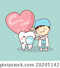 Happy cartoon tooth and dentist 20205142