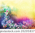 Watercolor flower painting. Ivy flowers 20205837