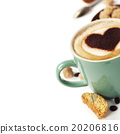 Cup of coffee with heart on foam 20206816