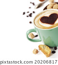 Cup of coffee with heart on foam 20206817