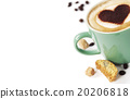 Cup of coffee with heart on foam 20206818