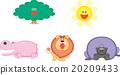ป่า,สัตว์,ภาพวาดมือ 20209433