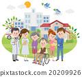 家庭 矢量 員工 20209926