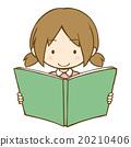 读书的女孩 20210406