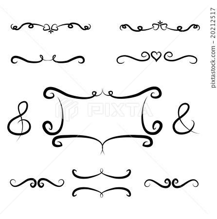 Hand drawn borders and frame vector element design 20212517