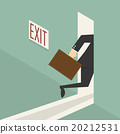 businessman walking to exit door 20212531