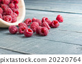 Ripe Fresh Raspberries On Wood Table 20220764