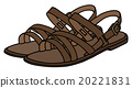 Leather womans sandals 20221831