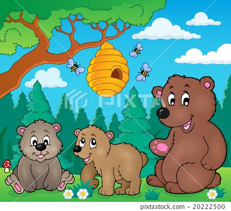 Bears in nature theme image 3 20222500