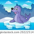 Happy seal on iceberg theme 2 20222514