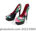 Female high heeled shoes, side view 20223960