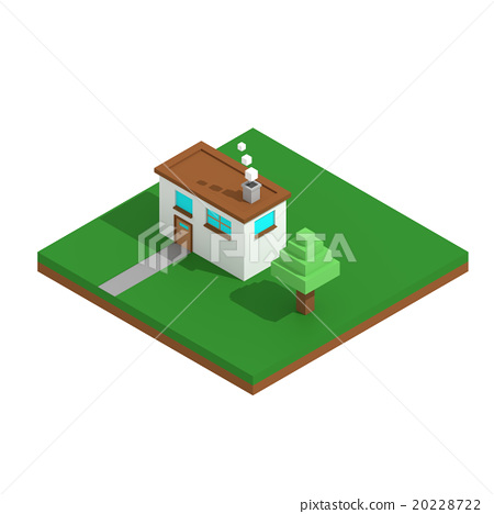Simple square house lowpoly style 20228722