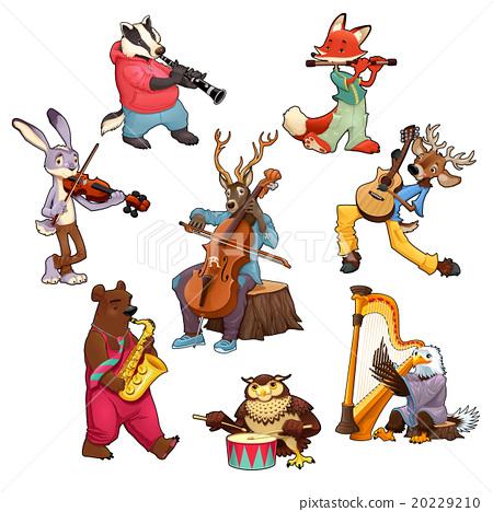 Musician cartoon animals 20229210