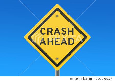 Crash Ahead road sign 20229537