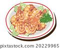 辣椒醬拌炒蝦 碟 烹調的 20229965