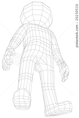 Puppet 3d man standing 20230510