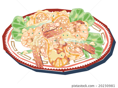 shrimp and mayo, chinese food, food 20230981