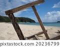 오키나와 야스다의 모래 사장 20236799