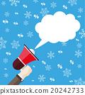 Bullhorn Speech Bubble Snowflakes Percents 20242733