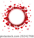 White Paper Emblem Hearts Background 20242768