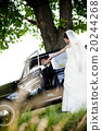 Bride and groom in car 20244268