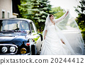 Bride and groom in car 20244412