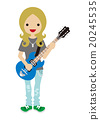 吉他彈奏者 矢量 吉他手 20245535