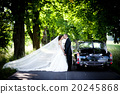 Bride and groom in car 20245868