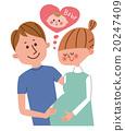 妊娠 懷孕 夫婦 20247409
