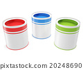 Banks, green, red and blue colors for painting. 20248690