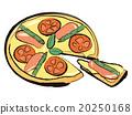 披薩 意大利菜 矢量 20250168