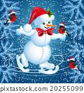 Snowman skates and  bullfinch 20255099