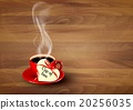 Red cup of coffee with heart shaped valentine note 20256035