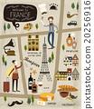 法国 矢量图 矢量 20256916