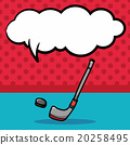 golf doodle, speech bubble 20258495